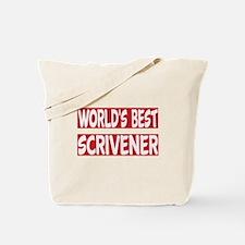 World's Best Scrivener Tote Bag