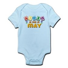 Aiden is Due in May Infant Bodysuit