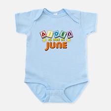 Aiden is Due in June Infant Bodysuit