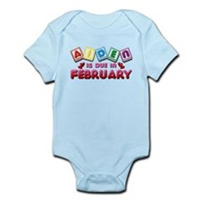 Aiden is Due in February Infant Bodysuit