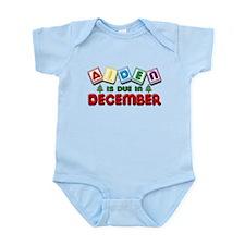 Aiden is Due in December Infant Bodysuit