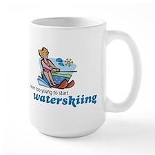 Never Too Young to Start Waterskiing Mug