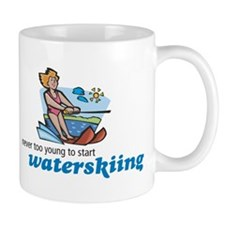 Never Too Young to Start Waterskiing Mug