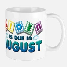 Aiden is Due in August Mug