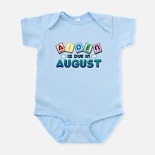 Aiden is Due in August Infant Bodysuit