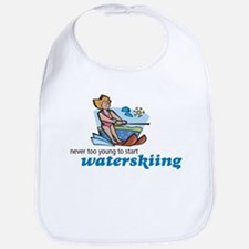 Never Too Young to Start Waterskiing Bib