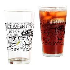 Nerdy Test Coder Drinking Glass