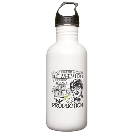 Nerdy Test Coder Stainless Water Bottle 1.0L