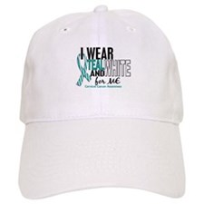 I Wear Teal White 10 Cervical Cancer Baseball Cap