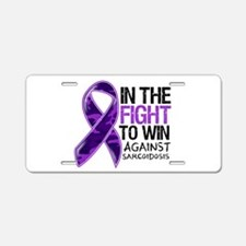 In The Fight Sarcoidosis Aluminum License Plate