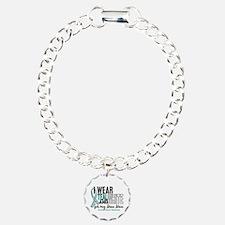 I Wear Teal White 10 Cervical Cancer Bracelet