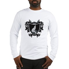 Black Wolf Shield Long Sleeve T-Shirt