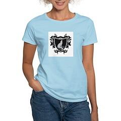 Black Wolf Shield Women's Pink T-Shirt
