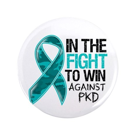 "In The Fight PKD Awareness 3.5"" Button (100 pack)"