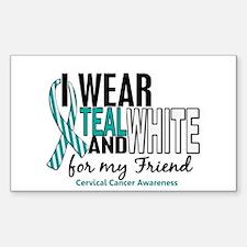 I Wear Teal White 10 Cervical Cancer Decal