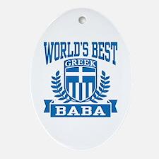 World's Best Greek Baba Ornament (Oval)