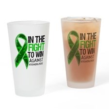 In The Fight MITO Awareness Drinking Glass