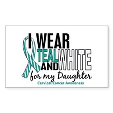 I Wear Teal White 10 Cervical Cancer Decal