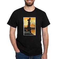 Prague Czech Republic (Front) Black T-Shirt