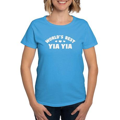 World's Best Yia Yia Women's Dark T-Shirt