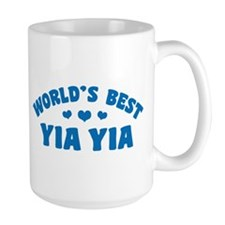 World's Best Yia Yia Ceramic Mugs