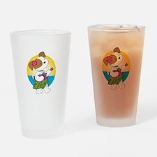 Cute Puppy Hawaii Drinking Glass