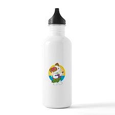 Cute Puppy Hawaii Water Bottle