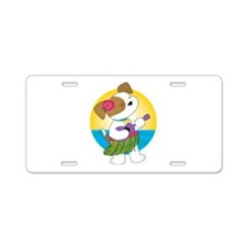 Cute Puppy Hawaii Aluminum License Plate