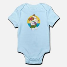 Cute Puppy Hawaii Infant Bodysuit
