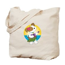 Cute Puppy Hawaii Tote Bag