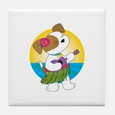 Cute Puppy Hawaii Tile Coaster