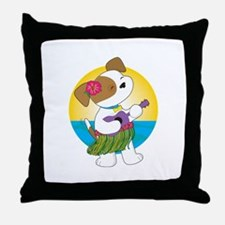 Cute Puppy Hawaii Throw Pillow