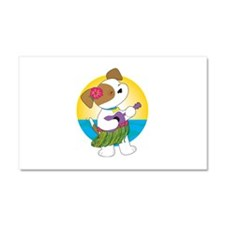 Cute Puppy Hawaii Car Magnet 20 x 12