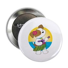 "Cute Puppy Hawaii 2.25"" Button"