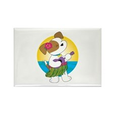 Cute Puppy Hawaii Rectangle Magnet