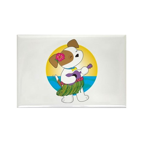 Cute Puppy Hawaii Rectangle Magnet (10 pack)