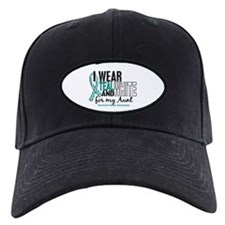 I Wear Teal White 10 Cervical Cancer Baseball Hat