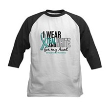 I Wear Teal White 10 Cervical Cancer Tee