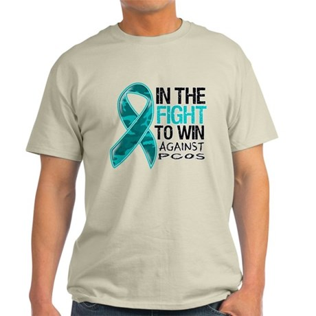 In The Fight PCOS Awareness Light T-Shirt