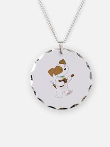 Cute Puppy Ukulele Necklace