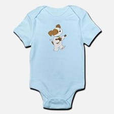 Cute Puppy Ukulele Infant Bodysuit