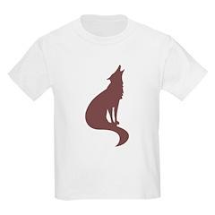 Brown Wolf Kids T-Shirt
