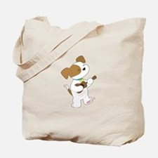 Cute Puppy Ukulele Tote Bag