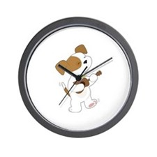 Cute Puppy Ukulele Wall Clock
