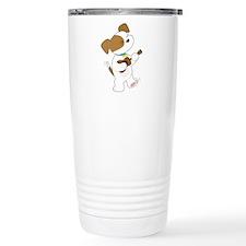 Cute Puppy Ukulele Travel Coffee Mug