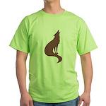 Brown Wolf Green T-Shirt