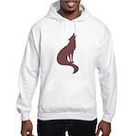 Brown Wolf Hooded Sweatshirt