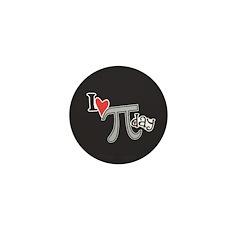 I heart (love) Pi Day Mini Button (100 pack)