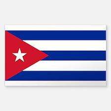 Cuban Flag Sticker (Rectangle)