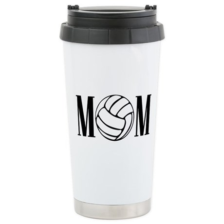 Volleyball Mom Stainless Steel Travel Mug